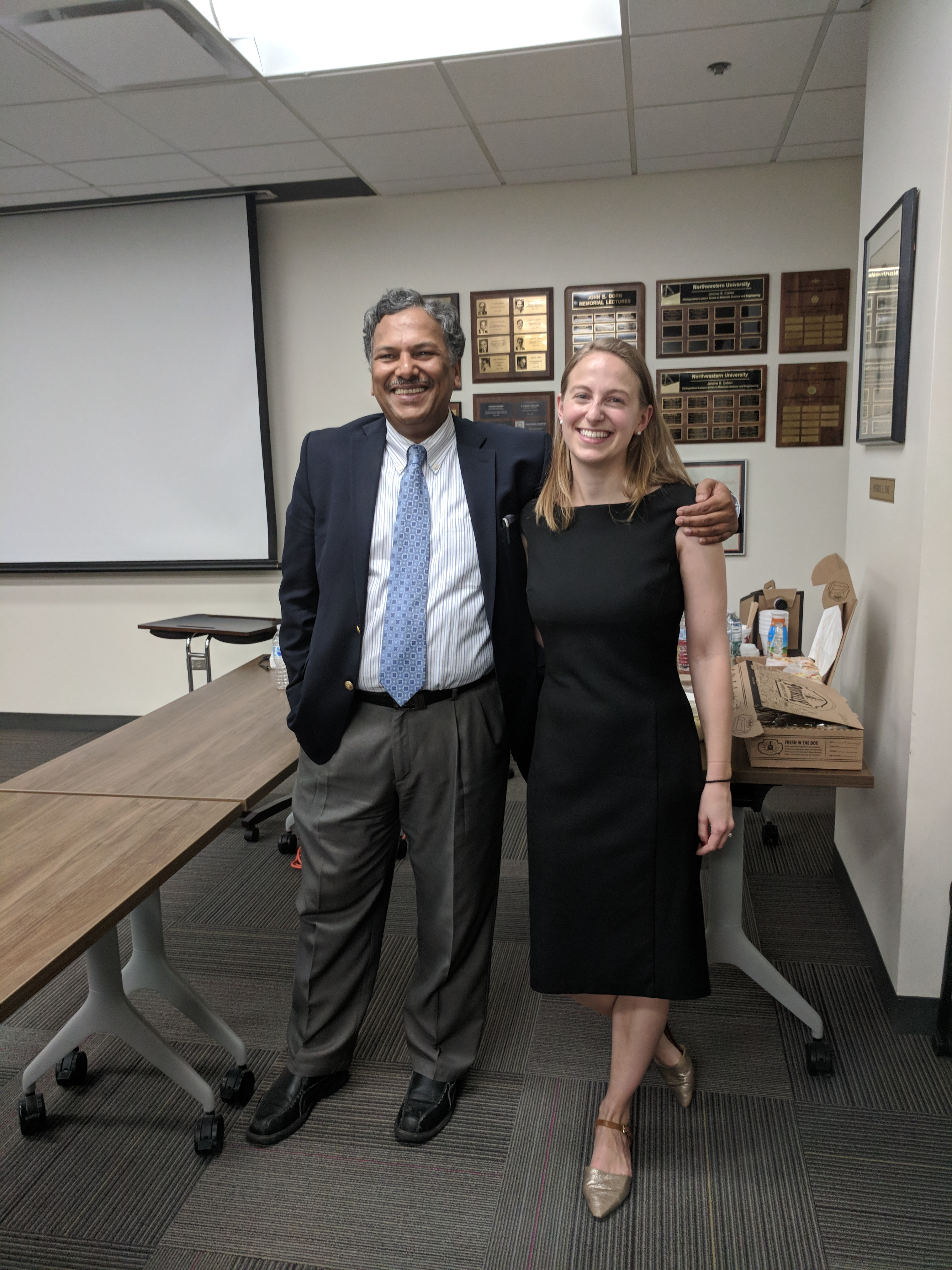 Professor Dravid with the newly titled Dr. Hanson