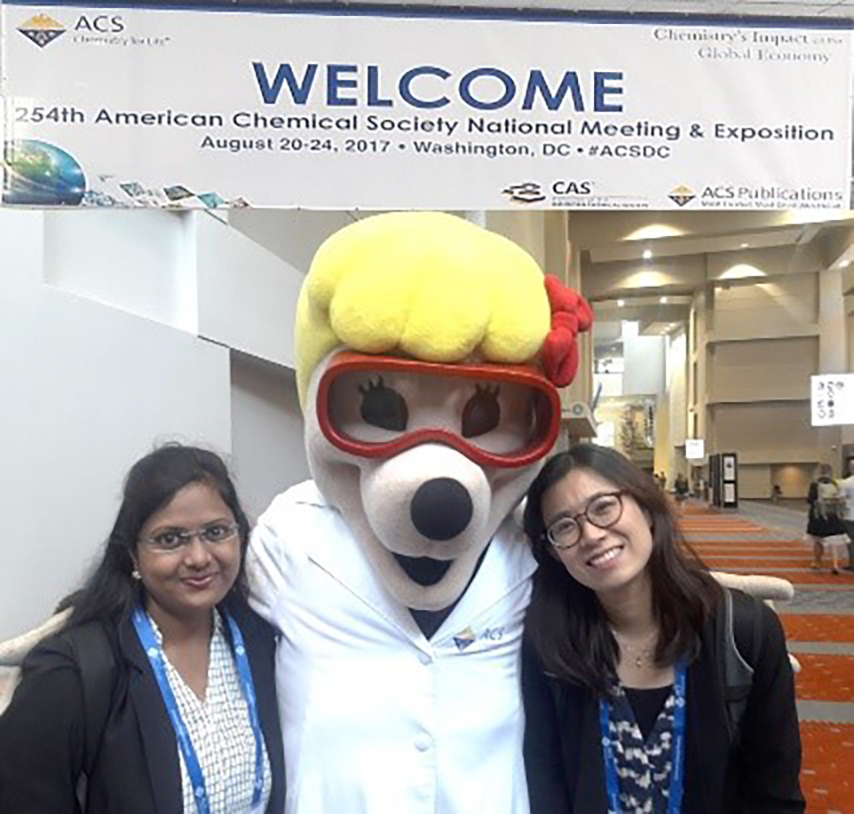 Singh and Ryoo at the ACS meeting
