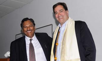 Professors Mirkin and Dravid visit Asia last year.