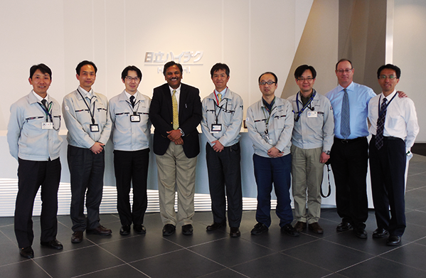 Professor Dravid visits Hitachi High-Tech in Hitachinaka City, Ibaraki Prefecture in Japan.