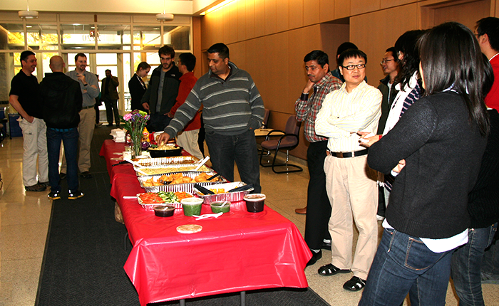 Picnic buffet in Cook Hall